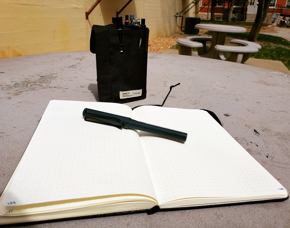 One of my favorite things about spring is getting to sit outside on the sun and write notes for my blog! @LAMY @lamyusa @LIHITLAB @Retro1951 @inventeryco #spring #springbreak #Sunny #sunshine #stationery  #vlog #vlogger #blogger #bloggingtips #bloggerlife #ontheblog