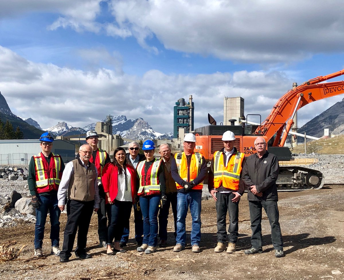 #Construction is underway for Exshaw Creek flood mitigation project. Reports @TheCrag. https://buff.ly/2vkmjqk . #Alberta