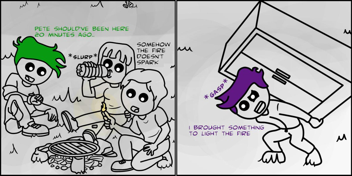 where did he even get that ? ~ loops  #art #comic #webcomic #hyd