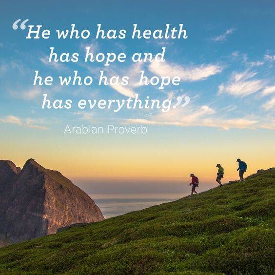 Not, if he/she is hoping to be healthy.#Hope