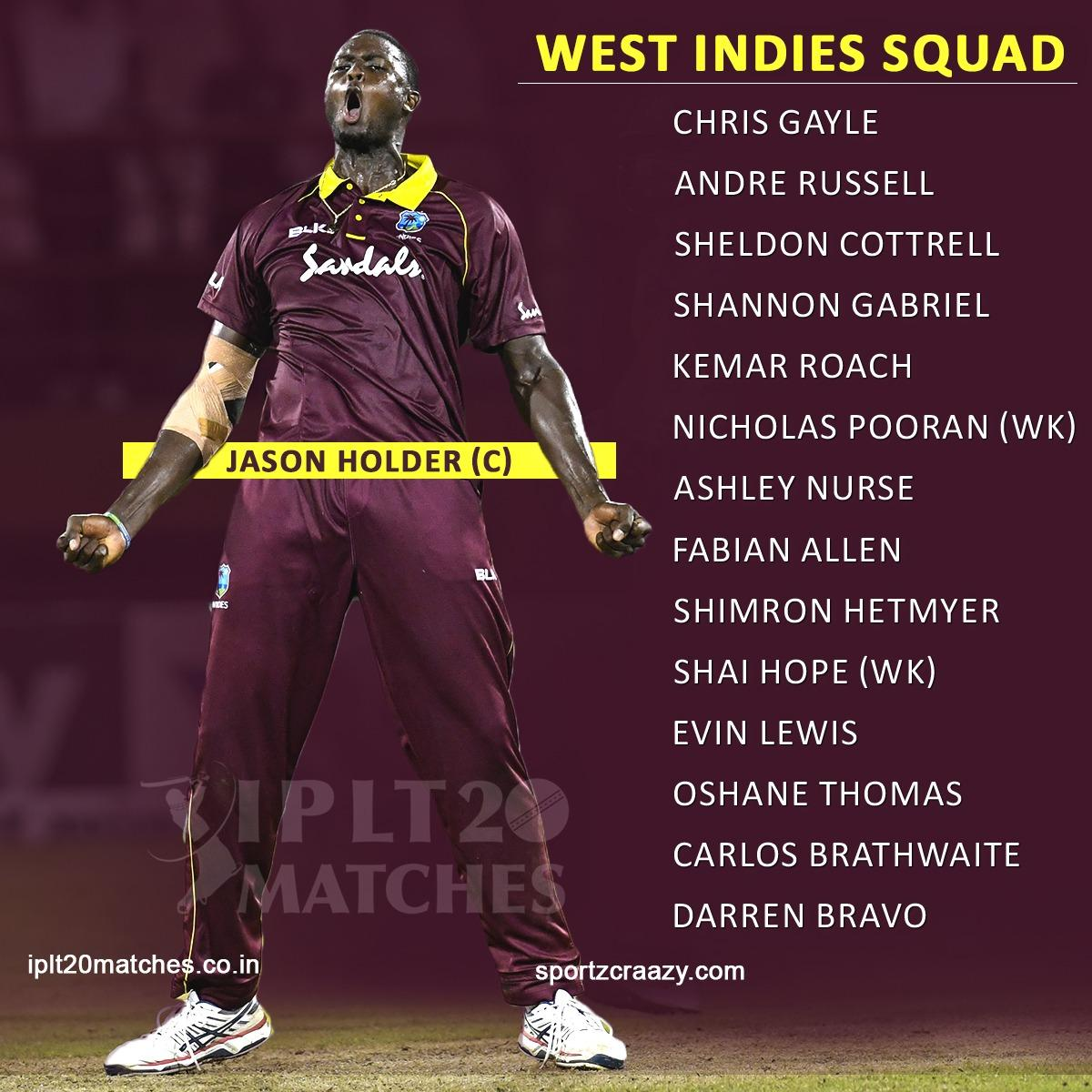 BREAKING: @windiescricket name their #CWC19 squad!  #sportzcraazy #WorldCup2019 #Windies #WindiesCricketTeam #Teams #CWC #Players #Matches #Squad #WorldCup