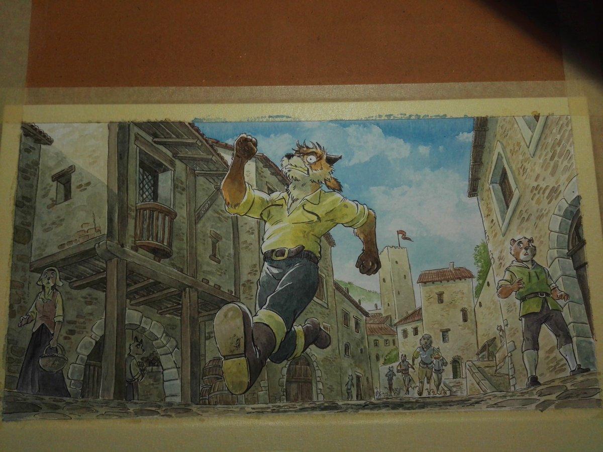E se continua pian pianino...  #comic #arte #fumetto #art #cronache_di_un_malandrino #watercolor #workinprogress