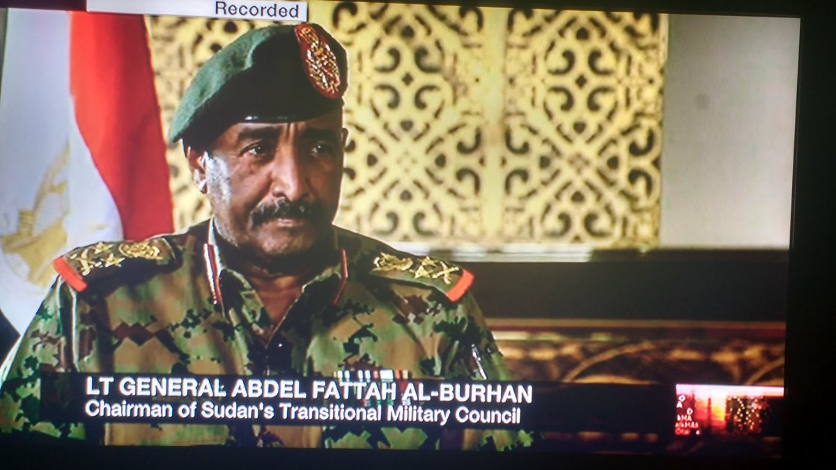 @BBCHARDtalk @TheZeinabBadawi A balanced interview by Zeinab with Sudan's transitional leader. #Hope The Sudanese are a great people and there is opportunity ahead. Patience will be required.