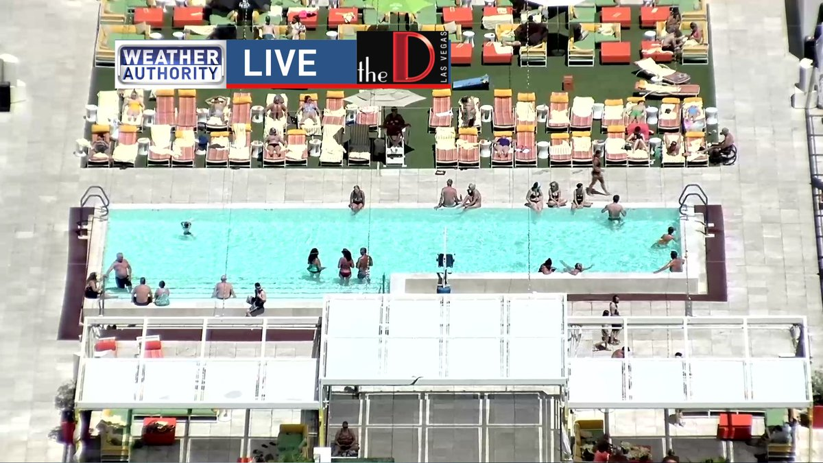 Looks like the @DowntownGrandLV pool is the place to be!  (photo taken from @theDlasvegas camera) #weatherauthority #lasvegas #nvwx #poolweather #sunbathing #sunscreen<br>http://pic.twitter.com/LQaGbfYAVI