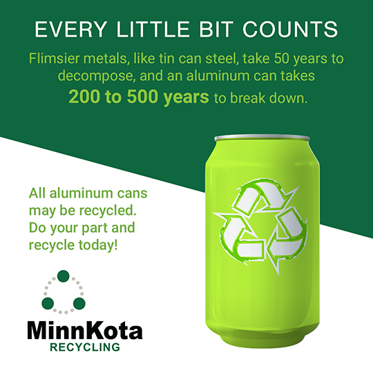 We are celebrating Earth Day through May 4th! Every little bit counts. Do your part by recycling aluminum cans. #recycling #recycle #zerowaste #ecofriendly #environment #green