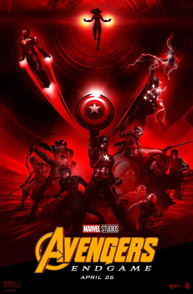Heres the Marvel Studios' #AvengersEndgame-inspired poster by artist Paul Ainsworth (@PAIDesign)! #DontSpoilTheEndgame