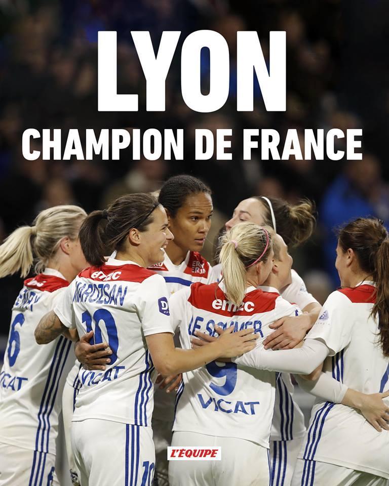 BRAVO @OL 😀🎊 #football #gogirls #championnes #championdefrance #OL #Lyon