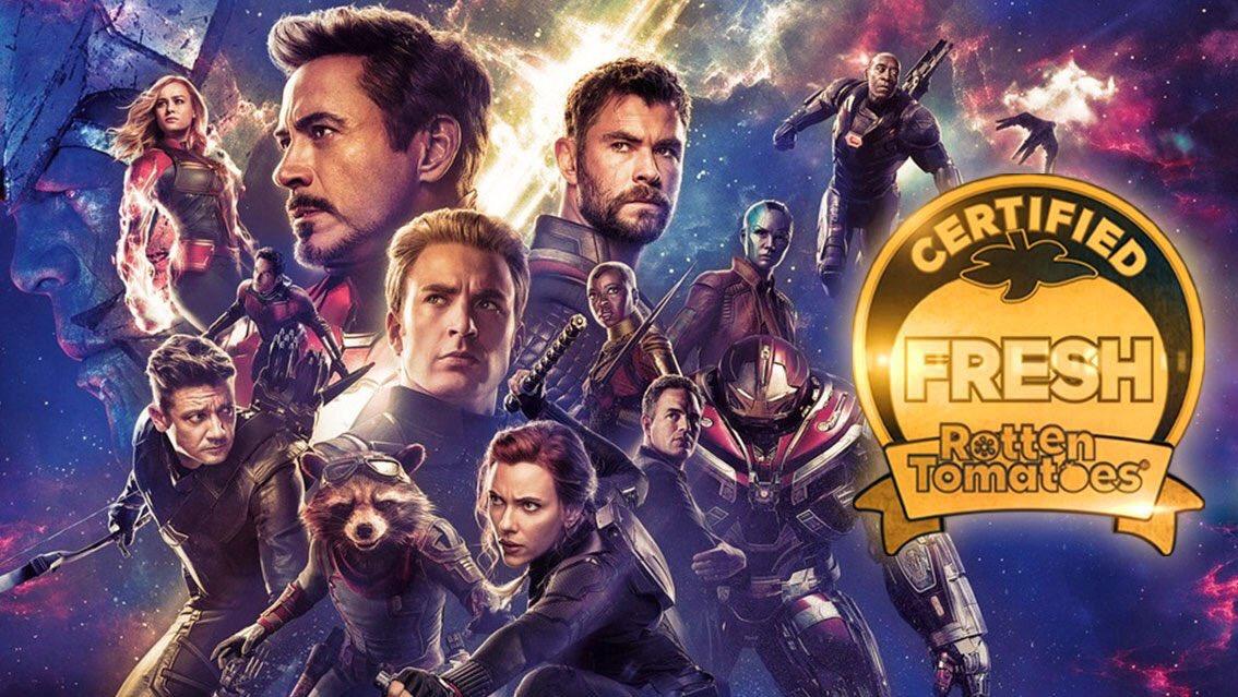 Oficialmente AVENGERS ENDGAME es la película con mejor calificación de la saga #Avengers en Rotten Tomatoes... #TheAvengers 92% #AgeOfUltron 75% #InfinityWar 85% #AvengersEndgame 97%