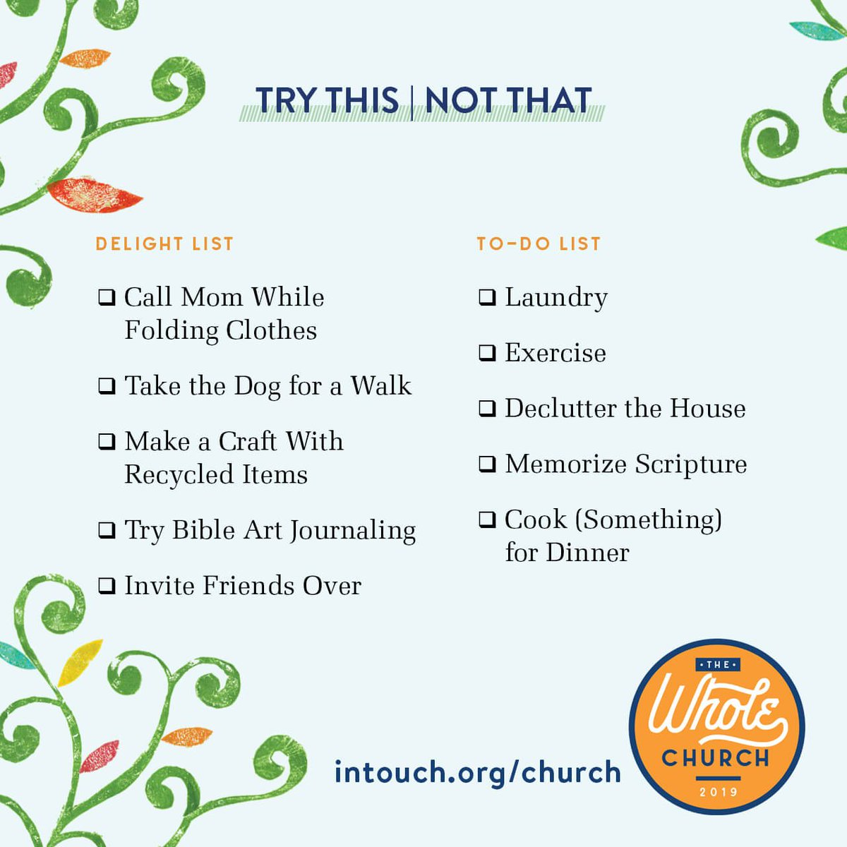 TELL US: What would it be like for you to shift from a to-do list mindset to a delight mindset? What do you think it would it be like to simply sit beside Jesus?