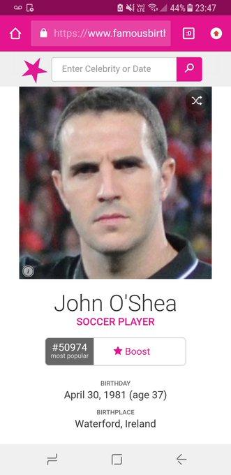 Happy birthday, John O\Shea