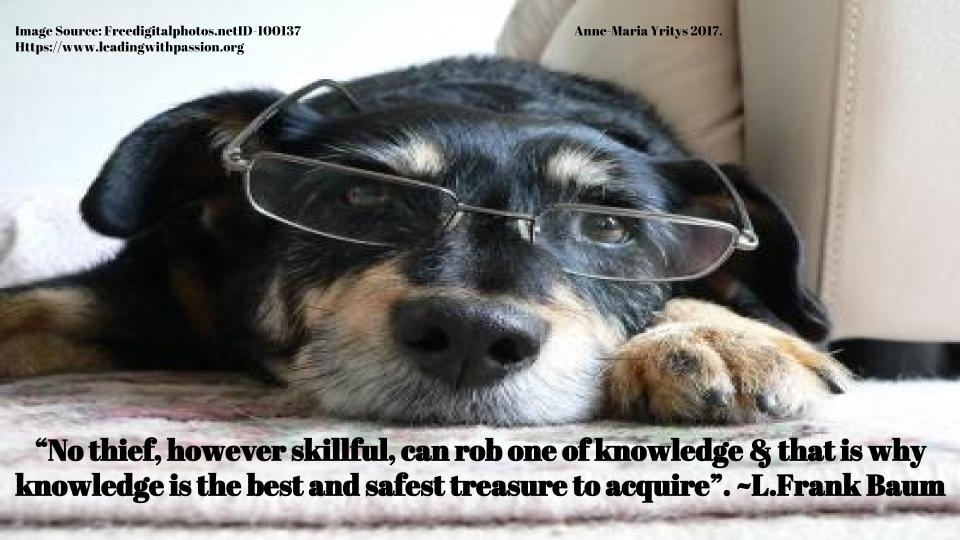 """""""No thief, however skillful, can rob one of knowledge"""". ~L.F.Baum http://bit.ly/KNOWLEDGE333 #mindfulness #dreams"""