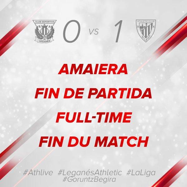 🔴⚪ 0-1 #Athlive #LeganésAthletic #GoruntzBegira💪🦁
