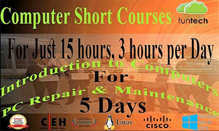 Introducing Computer Short Courses for all ages. #15-3-5 #Zimbabwe #263chat #Twimbos #ZBC #pingfuntech