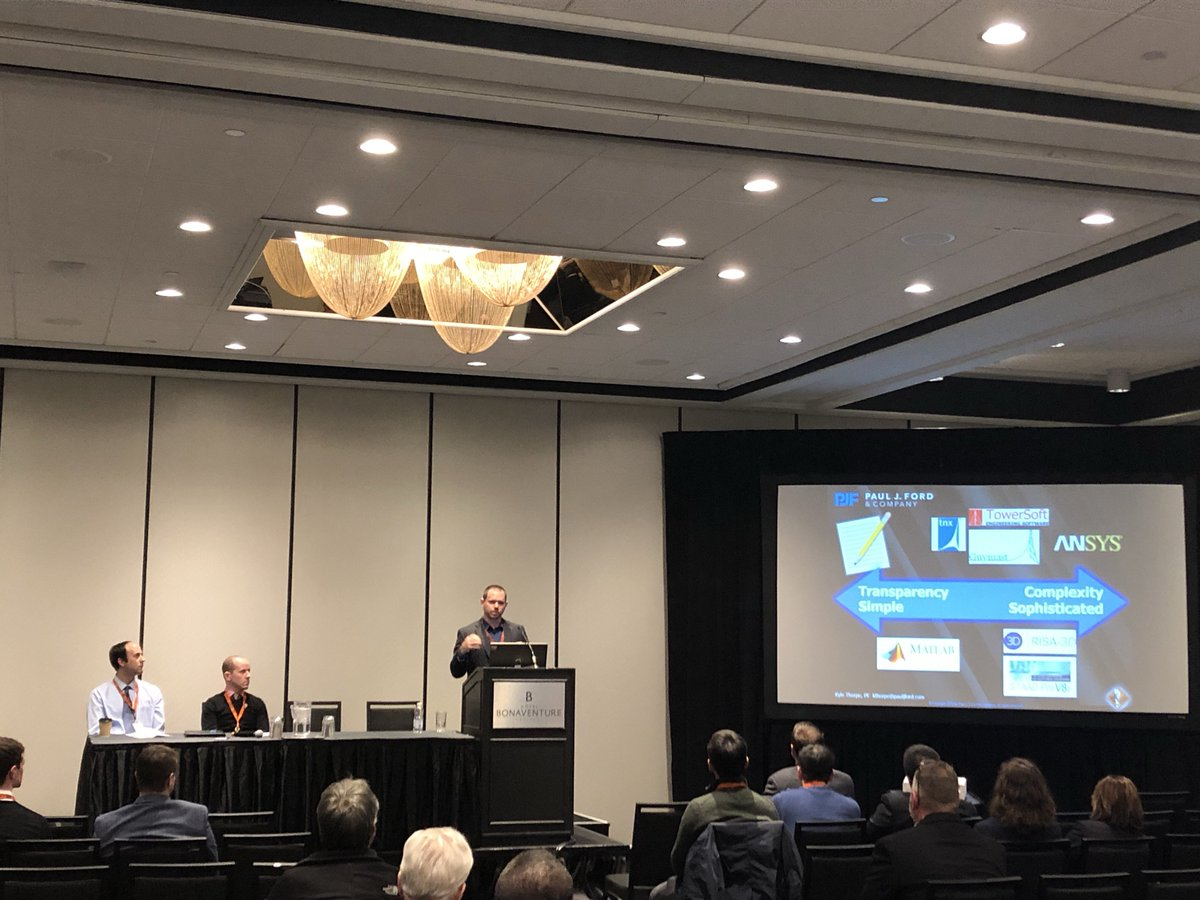 test Twitter Media - Devin Finnigan of @TrylonTSF, Shawn Hoffmeyer of @PSECCanada, Kyle Thorpe of @PJFstructures present the Antenna Mount Analysis session, discussing the mount design considerations related to extreme climate, fall arrest, mount configuration, and applied loads. #STAC2019 https://t.co/VKYUmAFmSa
