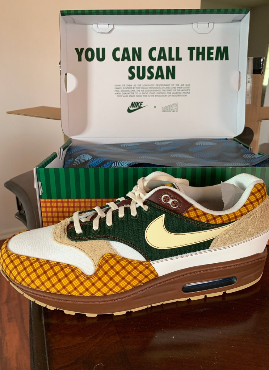 """""""You Can Call Them Susan"""" Air Max 1 Susan's Size 13 (Sold) : : I thought this shoe was so dope! : : #lacedbyrocco #rockwithrocco #sneakers #kicks #footwear #shoes #nike #airmax #airmax1"""