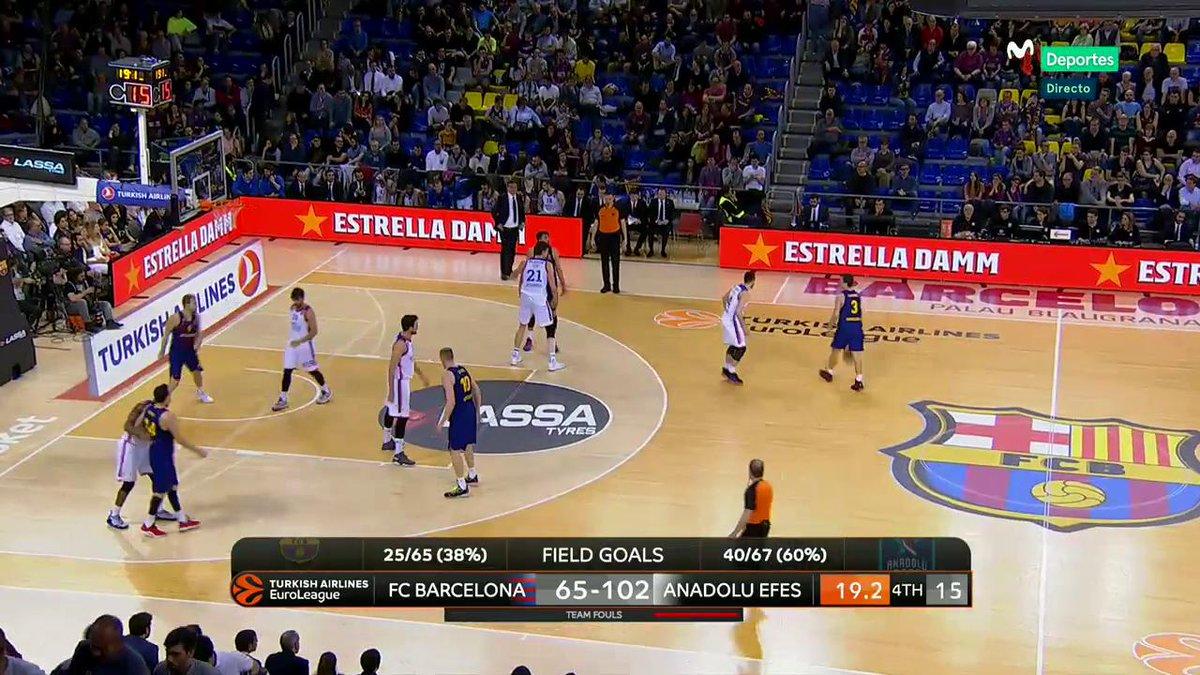Final. El Efes recupera el factor cancha. Arrolla al Barcelona Lassa con un Larkin estelar (30 puntos). #Eurofighters