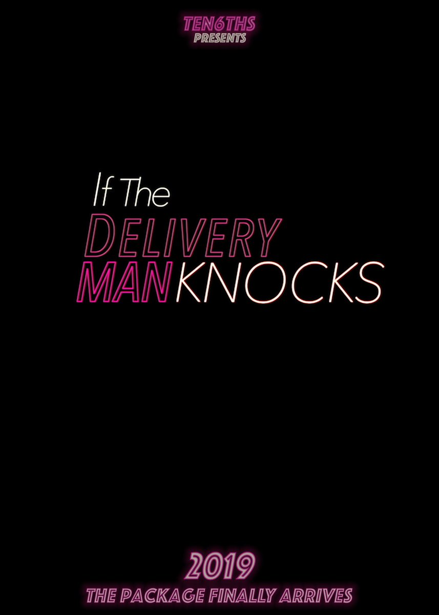 "Teaser poster for ""If The Delivery Man Knocks""! New short film getting ready to hit the festival circuit! Starring @MasonHeidger @cmccormick12 and featuring @yakkopinky as the voice of The Delivery Master! #production #Filmmaking #COMINGSOON #writer #director #producer https://t.co/iJ7ShNfm1T"