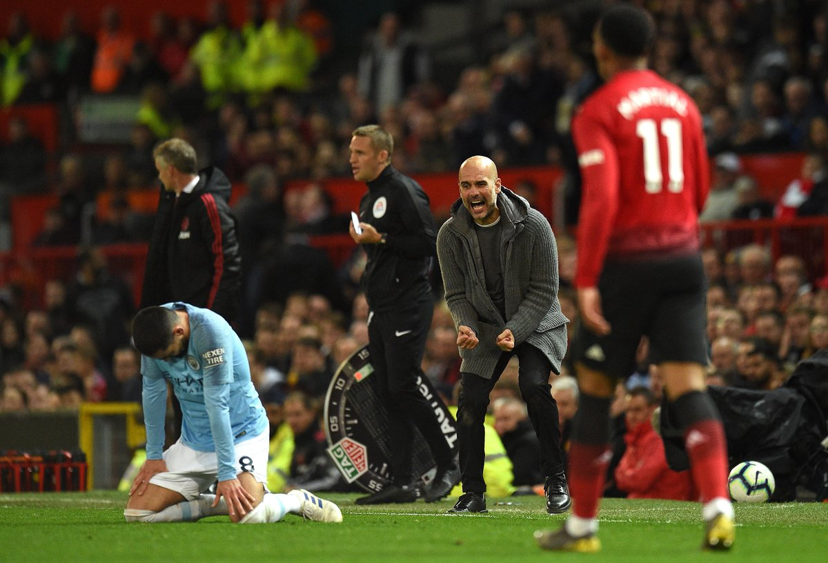3 - Pep Guardiola is the first manager to win three consecutive away Premier League matches at Old Trafford against Manchester United. Fearless. #MUNMCI
