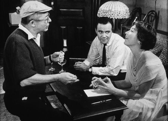Shirley MacLaine with Billy Wilder and Jack Lemmon on the set of The Apartment (1960). MacLaine was nominated for &quot;Best Actress&quot; at the Oscars for her performance. She won a Golden Globe and a BAFTA Award, however. #BirthdayStarOfTheDay<br>http://pic.twitter.com/hg1Ycutcqn
