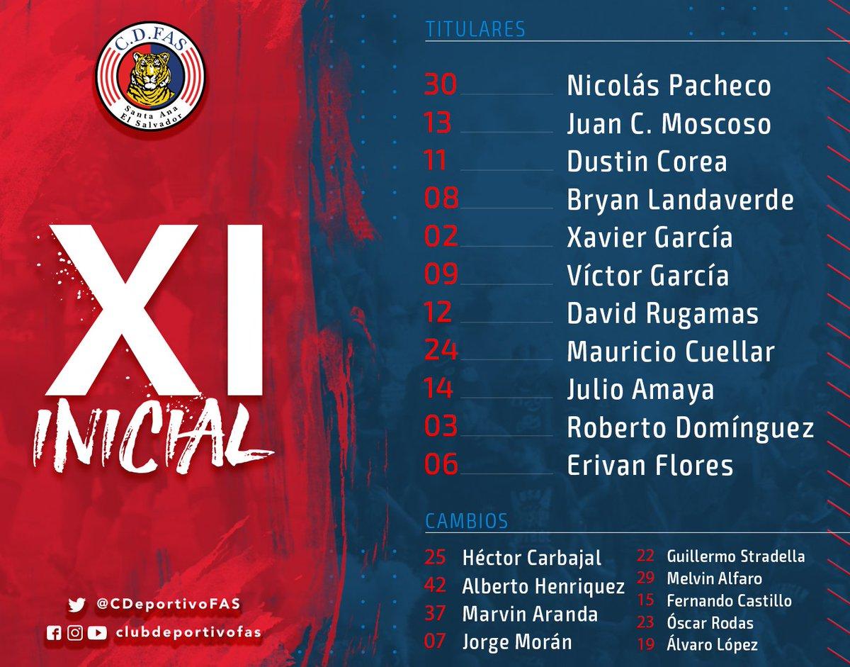 #FAS El XI Inicial de Club Deportivo FAS.