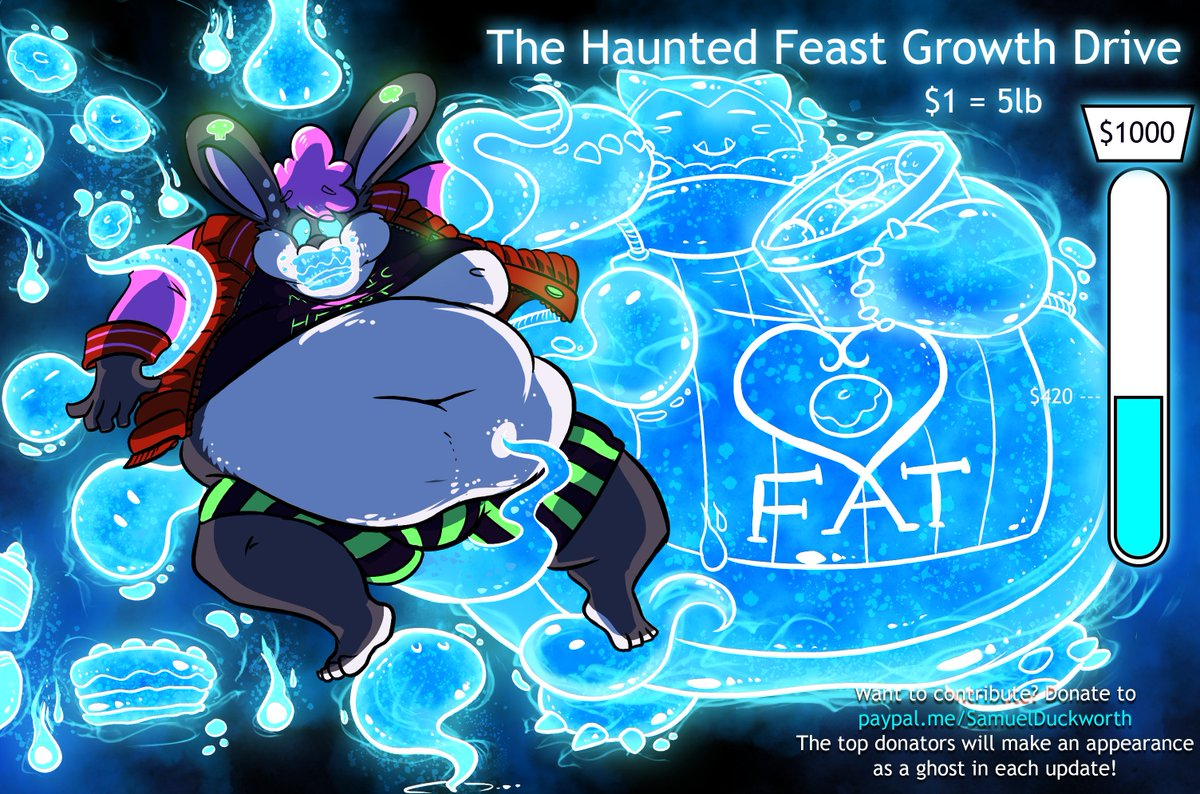 Part 3 - Ft. Onigumi as our head ghost host!  A large chuckle rung around the mansion as a very overweight, even for snorlax standards, baker ghost appeared with a fresh batch of pastries.  Something began to change with the rabbit, a hunger for more began to form... <br>http://pic.twitter.com/WM5WTPSDSb