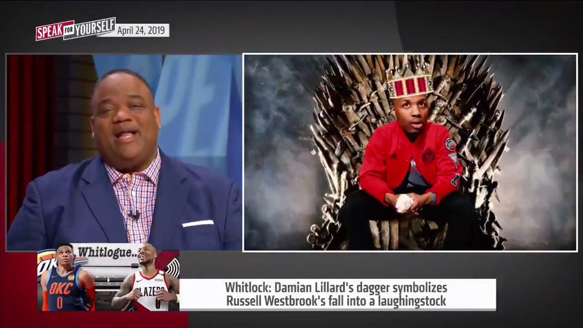 Whitlock: Game 5 Thunder-Blazers said more about Russell Westbrook than Dame Lillard. Dame slayed the Triple Double King, the NBA's King Joffrey.  @WhitlockJason compares Game 5 to Game of Thrones