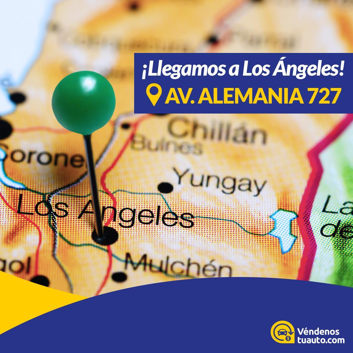¡Decimos presente en Los Ángeles! Si estas en la Región del Biobío y quieres vender tu auto de una forma rápida, segura y confiable. Te esperamos en la Av. Alemania 727, Los Ángeles. Agenda tu inspección en https://t.co/EF2III0NrD #LosAngeles #BioBio https://t.co/l2iLq0xZFo