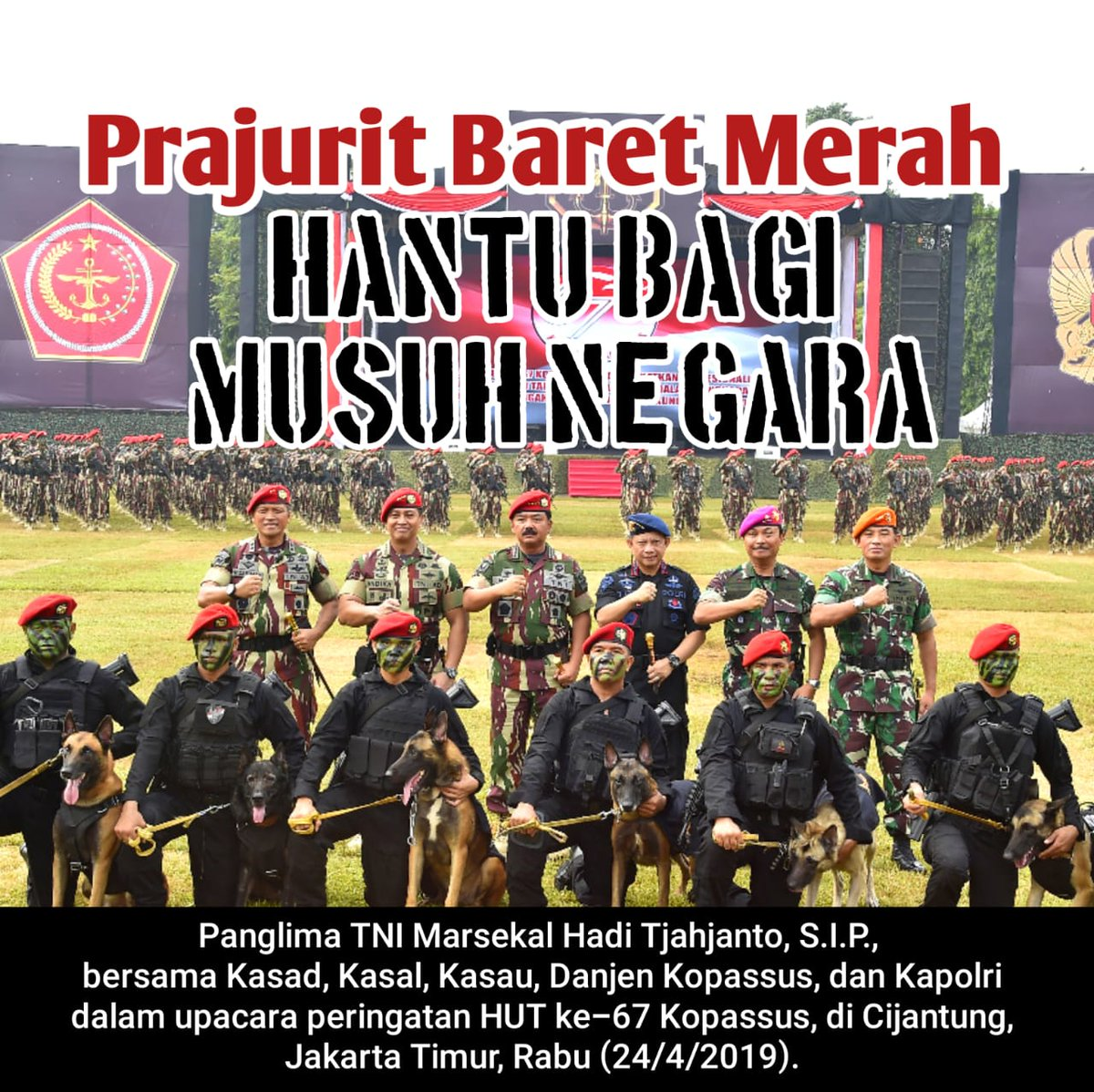 Prajurit baret merah hantu bagi musuh Negara 😎💂 #Komando #BeraniBenarBerhasil