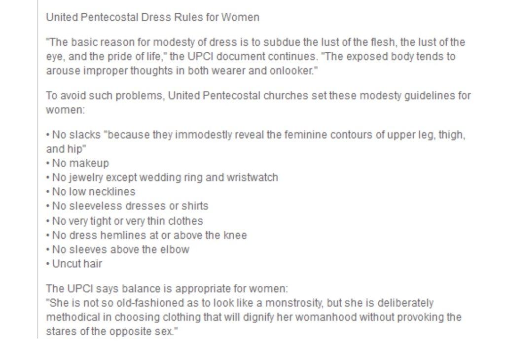 Wow. Dress rules for women from the church Scott Morrison attends. Hardcore. Via @randlight #auspol  <br>http://pic.twitter.com/f3xwm1mAaS