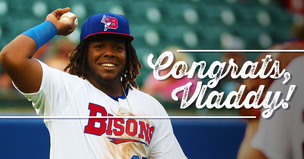 The @BlueJays have made it official!!!  Congrats @vladdyjr27! Thanks for some awesome memories with the Herd! Can't wait to see you in the show!! #Bisons