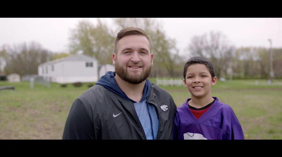 50 career starts at @KStateFB. 3-year team captain. His NFL dreams are about to come true… But OL Dalton Risner's (@DaltonBigD71) impact stretches far beyond the football field. For more about Dalton's foundation and community work, visit: RisnerUP.com @RisnerUpF