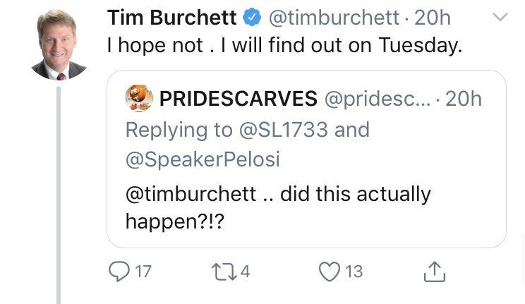 In case you need any more proof that the #GOP is run by fools, last night @timburchett RTed some #MAGA't's posting of a satirical website. The fake article, which among other things says the sign was a gift from Benedict Arnold(😂🤦‍♂️)is obviously a joke. He's too stupid to get it.
