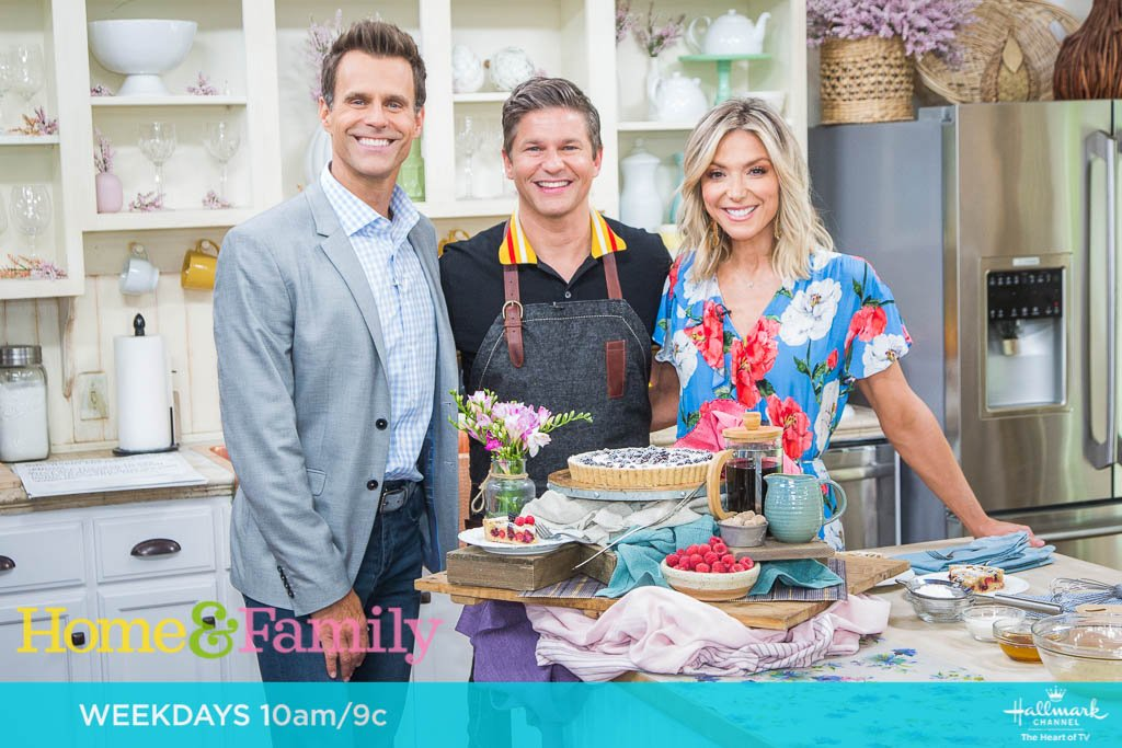 Author of #LifeIsAParty, @Davidburtka is bringing the party into our Home with one of his family's favorite dessert recipes! Join us in the kitchen TOMORROW at 10am/9c on @hallmarkchannel.