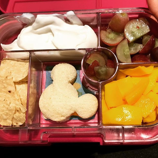 Tomorrow's lunch 🥙 🍴 I'm pretty sure I'll be cutting up their grapes 🍇 until my children are 18 years old! And it just occurred to me that next year, in first grade, she may not like the Mickey Mouse cookie cutter 🥪 sandwiches so may as well relish t… http://bit.ly/2L1lGN4