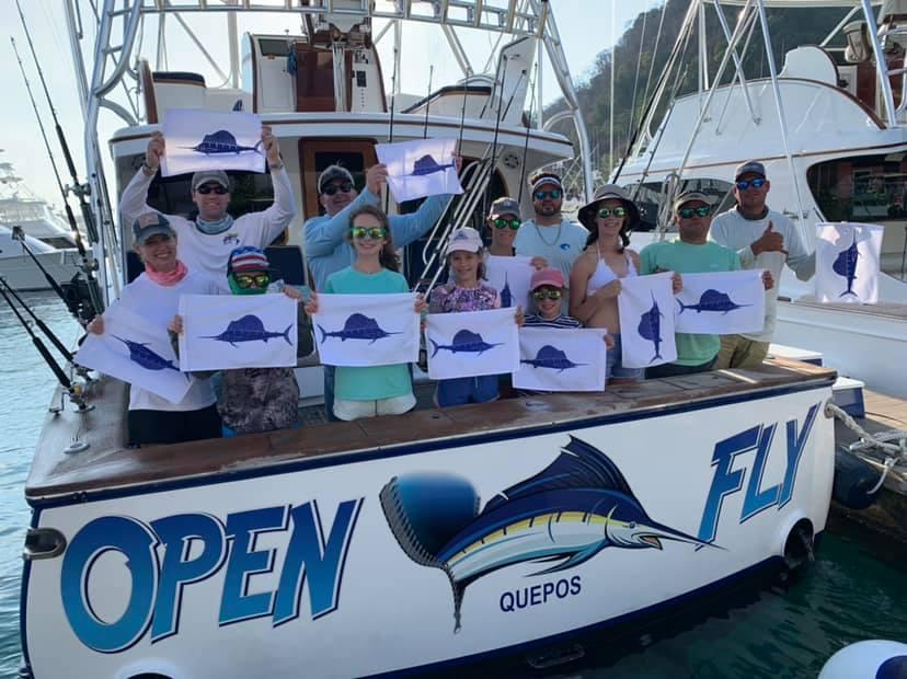 Los Suenos, CR - Open Fly released 11 Sailfish.