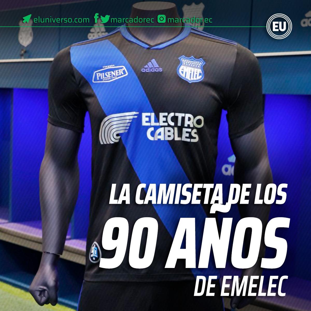 VIDEO | Así es la camiseta del 90 aniversario de #Emelec ► http://ow.ly/5c7W30owT5Q