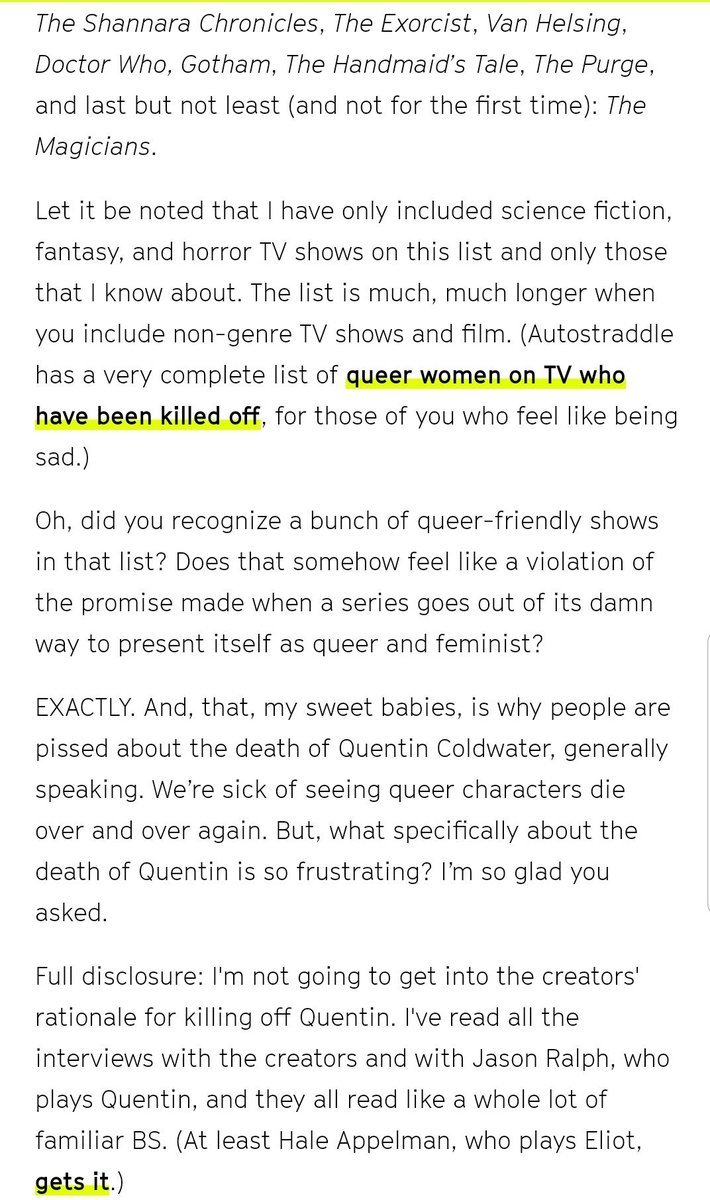 Forest Dwelling Gay On Twitter Themagicians At Syfy At Syfywire