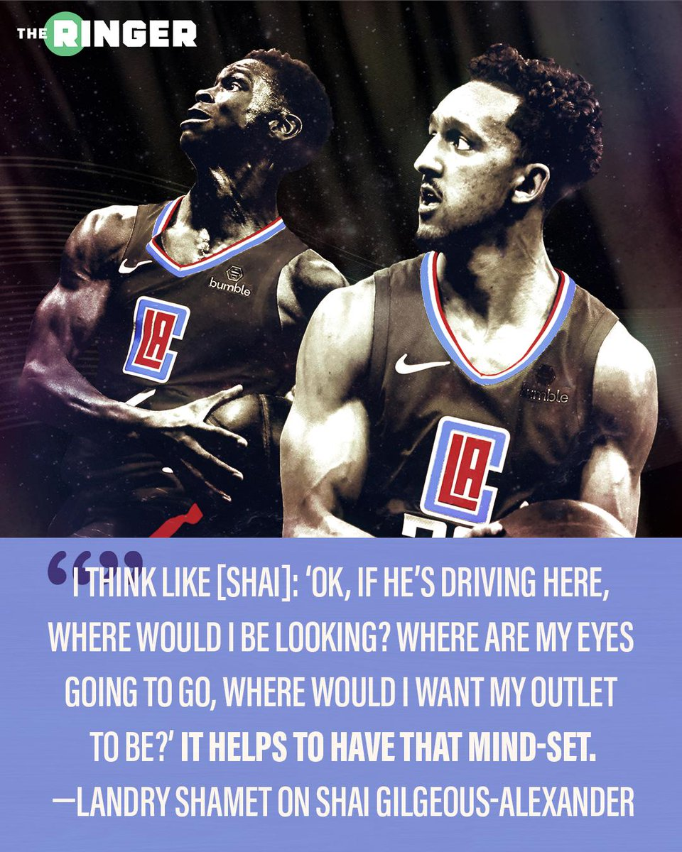 Both @shaiglalex and @landryshamet have been learning all season, but they want to make their own mark in the series against the Warriors. #ClipperNation  @PaoloUggetti: http://therin.gr/Gzil0N2