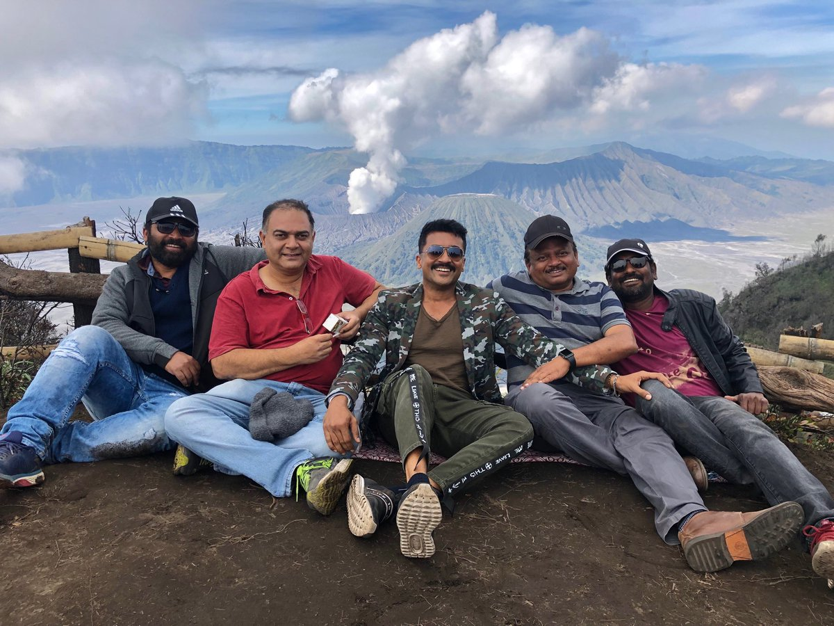 #Kaappaan - Song shoot in Jawa island . @Suriya_offl @msprabhuDop @shobimaster @KiranDrk