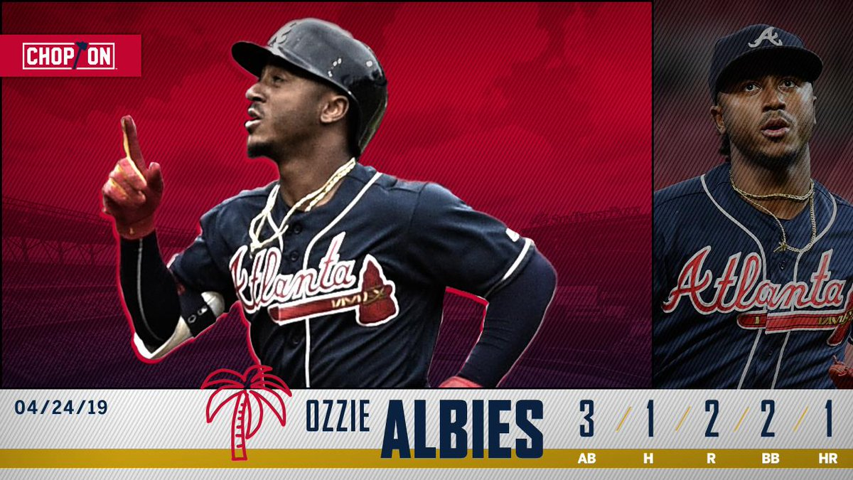 .@ozzie was locked in from literally the first pitch of the game tonight 💪  #ChopOn
