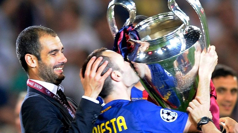 Remember when Pep Guardiola lost his first Barça game in the 08/09 La Liga? The press wanted to murder him. Iniesta went into his office and told him that the players enjoy his sessions and what they do on the pitch.  The rest is history 🏆🏆🏆