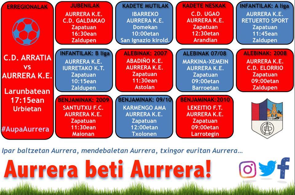 AURRERA K.E. taldin asteburukopartiduk http://turrune.com/2019/04/13/aurrera-k-e-taldin-asteburuko-partiduk-41/…