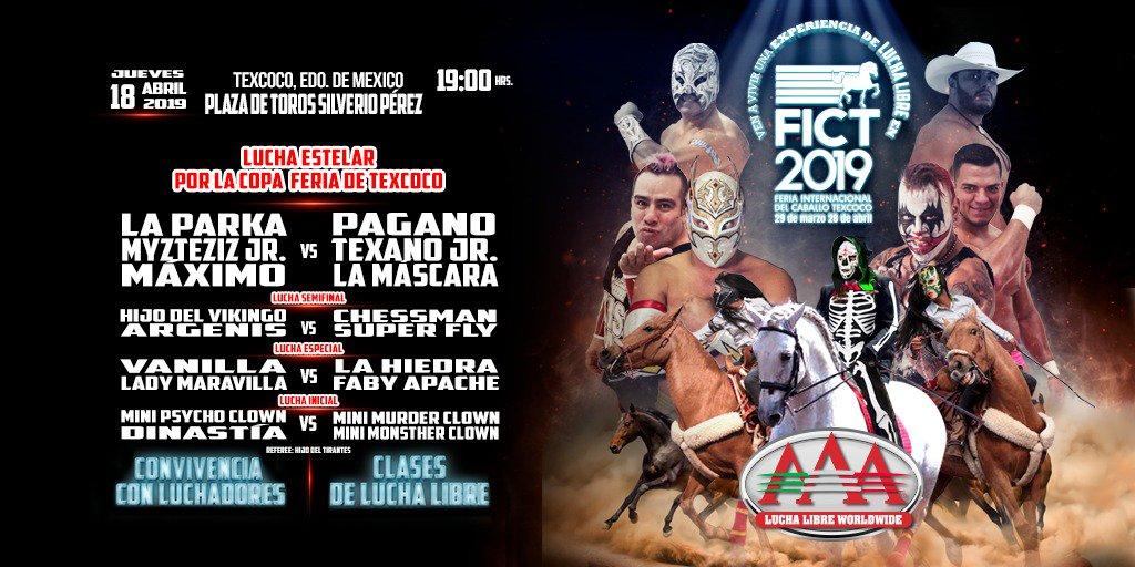AAA: La Conquista Total llega a la Feria de Texcoco 2019 2