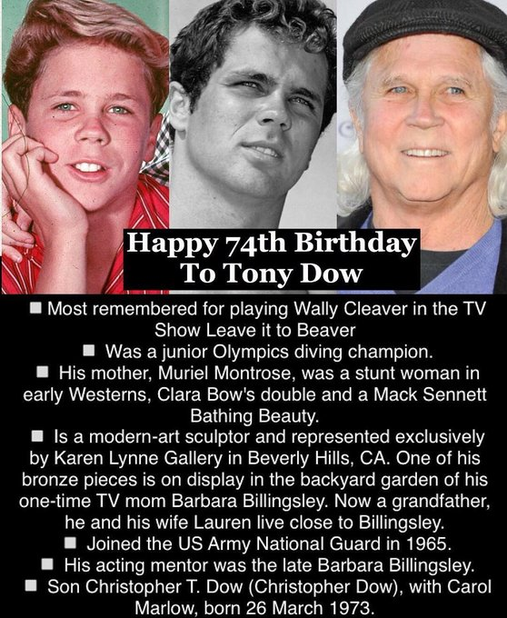 April 13: Happy 74th Birthday to Tony Dow