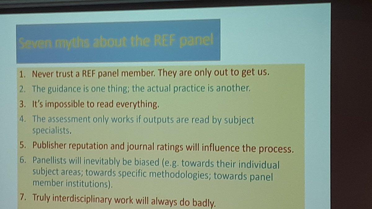 Ann Heilmann - myth busting the REF panel #ueagm19