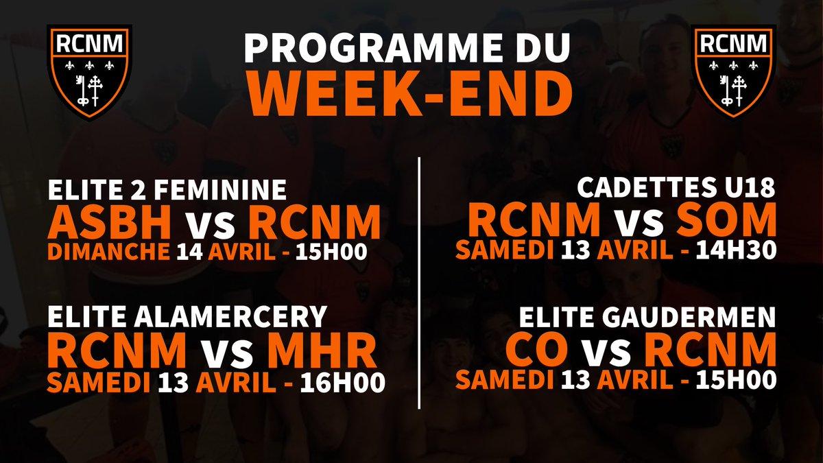 PROGRAMME DU WEEK-END  | 📅  Retrouvez le programme de nos équipes pour ce...