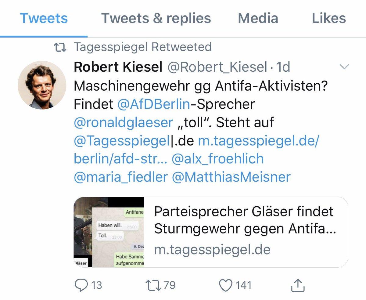 """test Twitter Media - Ronald """"8 Likes"""" #Gläser, Pressesprecher der Berliner #AfD - aktuell mit persönlichen Nazi-Problem - definiert das Verständnis eines """"gut anlaufenden Wahlkampfes"""" neu. #PoWiLehre #Politikwissenschaft https://t.co/d0fvCqZFXX https://t.co/FKniBCIxea"""