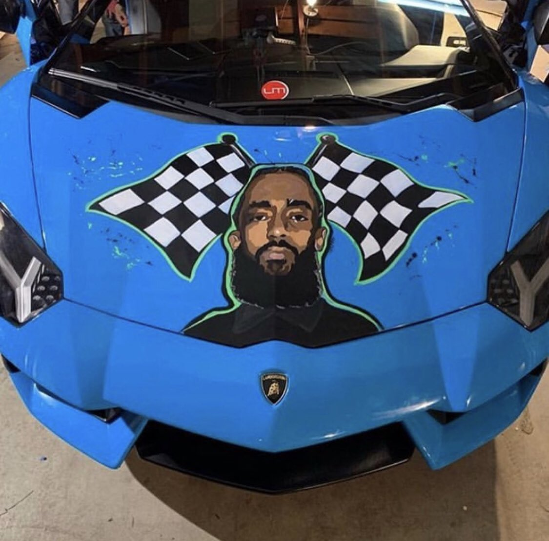 Image result for nipsey in blue