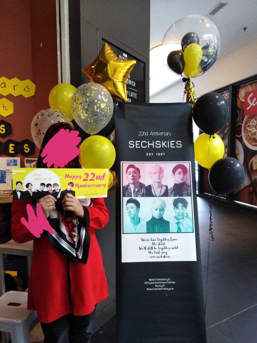 Happy 22nd anniversary Sechskies!I hope I can support you guys until whenever...#22YEARSWITHSECHSKIES#SECHSKIESMALAYSIA