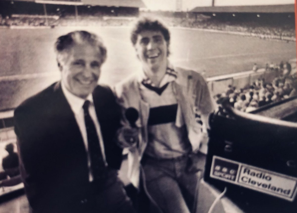 A rare picture in the match day programme shows Ali alongside one his many summarisers, former #Boro player and four time caretaker boss Harold Shepherdson at Ayresome Park, Middlesbrough's home up until their switch to the Riverside in 1995.